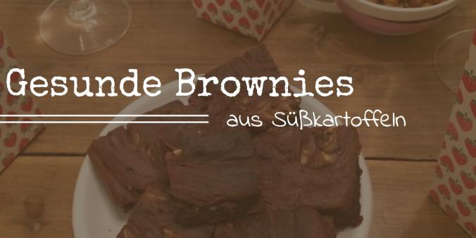 Gesunde Brownies Süßkartoffeln